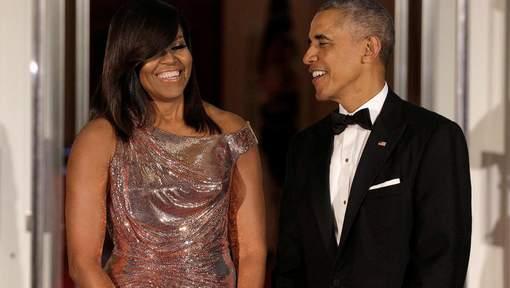 Pour son dernier dîner d'Etat, Michelle Obama a frappé fort