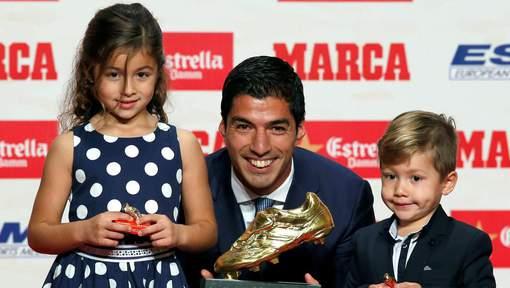 Luis Suarez a reçu le Soulier d'Or européen