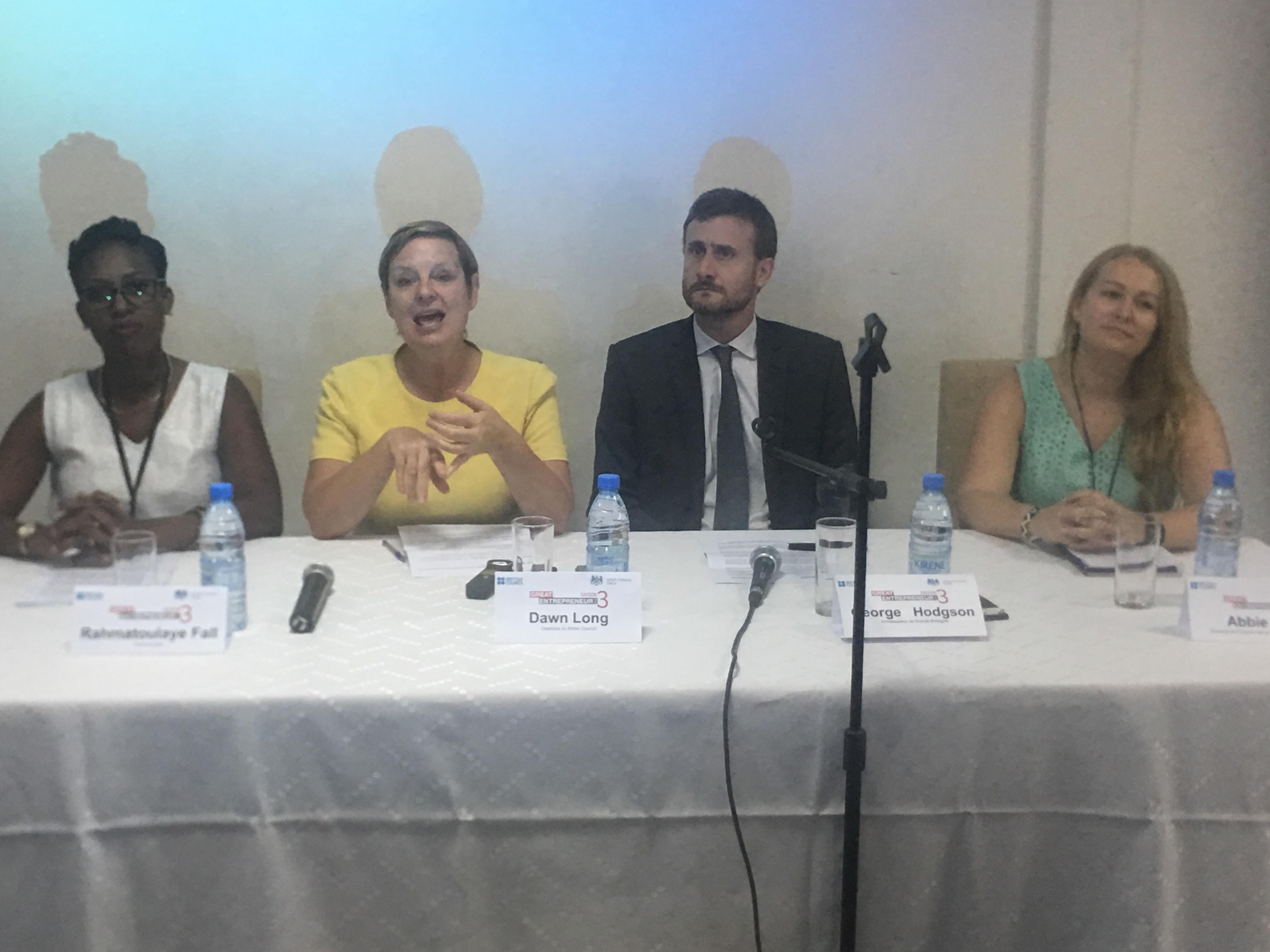 """L'Ambassade de la Grande Bretagne au Sénégal et le British Council ont lancé aujourd'hui, la saison 3 du programme """"Great Entrepreneur"""""""