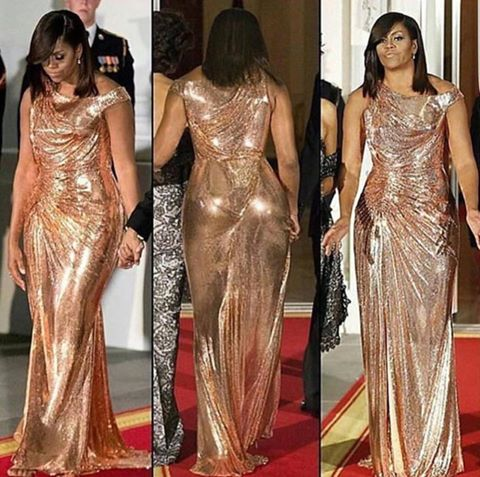 La tenue de soirée de Michelle Obama affole la toile !!!