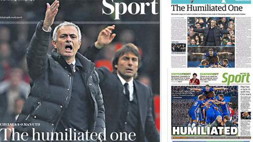 "Mourinho est désormais ""The Humiliated One"""
