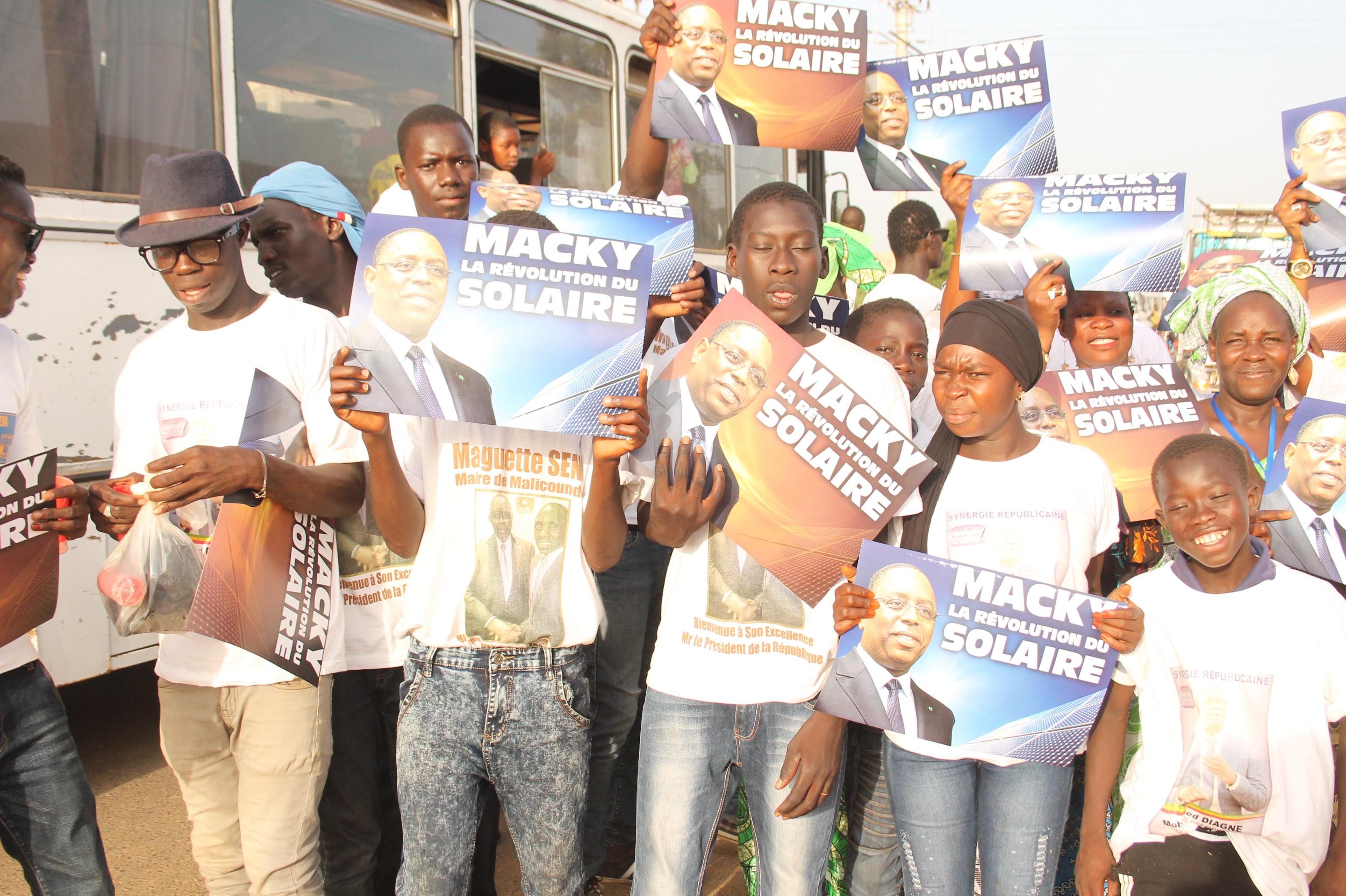 Des partisans de El Malick Seck à l'accueil du président Macky Sall à Malicounda