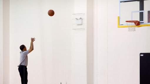 Comme d'habitude, Barack Obama joue au basket le jour de l'élection