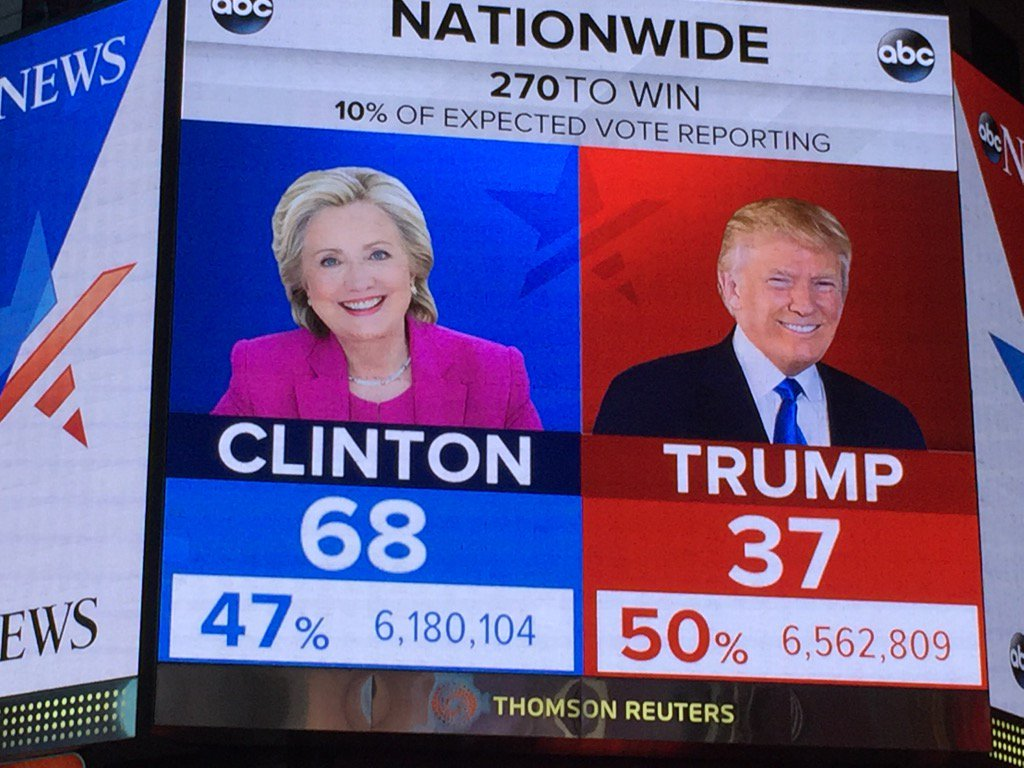 Hillary Clinton passe devant Donald Trump