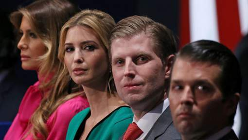 """""""Les enfants de Trump ne pourront pas travailler au gouvernement"""""""