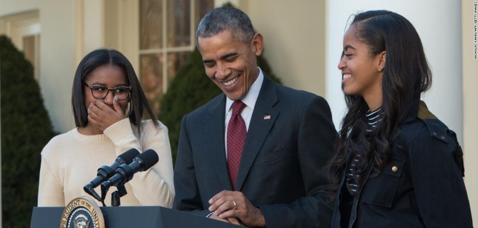 Barack Obama fait une mise en garde à ses filles après la victoire de Donald Trump
