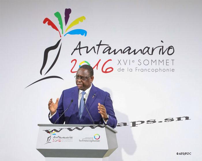 XVIe Sommet de la Francophonie : Allocution de SEM Macky Sall, Président de la République du Sénégal, Président en exercice du XVe Sommet de la Francophonie