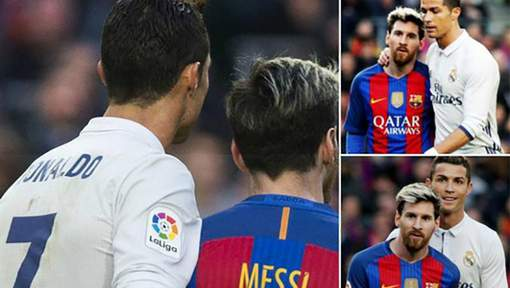 Messi et Ronaldo en toute complicité lors du Clasico