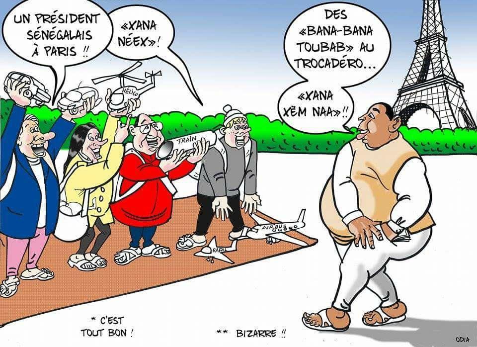 Un président sénégalais à Paris (Odia)