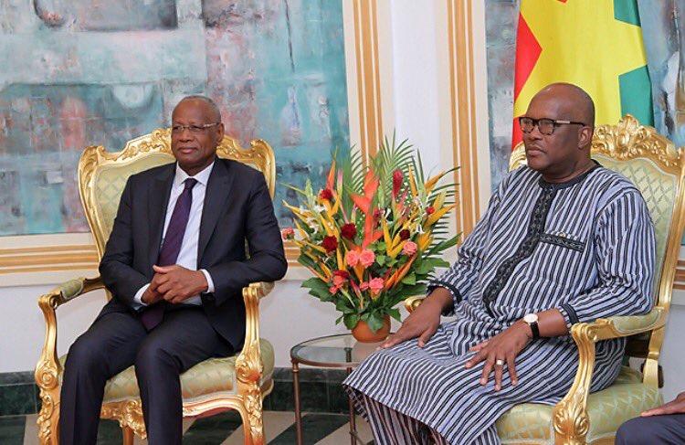 PRÉSIDENCE DE LA COMMISSION DE L'UA : Le Pr Abdoulaye Bathily reçu par le président du Burkina Faso Kaboré