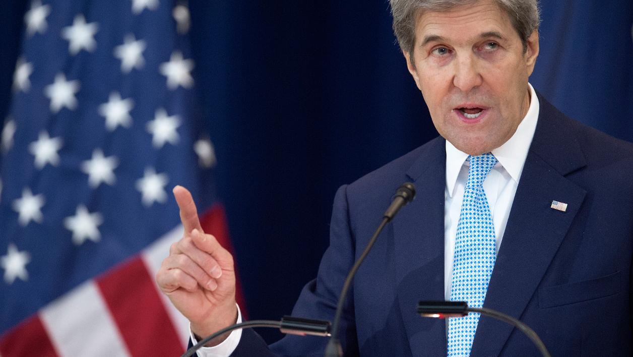 """Proche-Orient: Kerry défend la solution à deux Etats, Netanyahu dénonce un discours """"biaisé"""""""