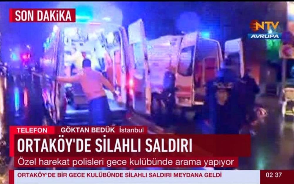 Une attaque en cours dans l'une des plus célèbres boîtes de nuit d'Istanbul