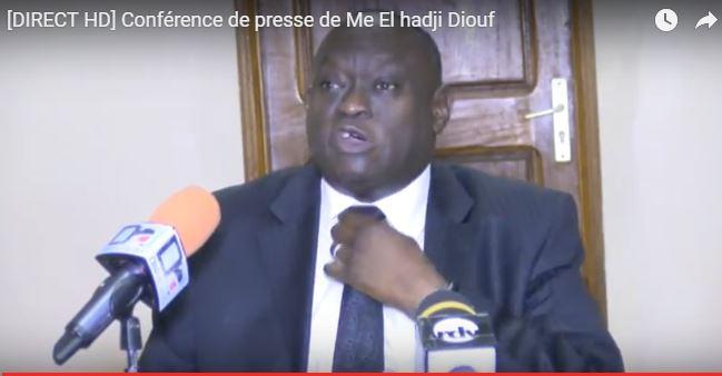Me El hadji Diouf mettra en place une coalition contre la guerre en Gambie le 03 janvier 2017.