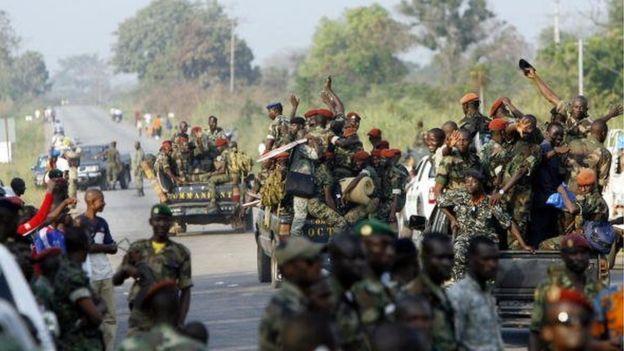 Mutinerie à Bouaké, Daloa et Korhogo