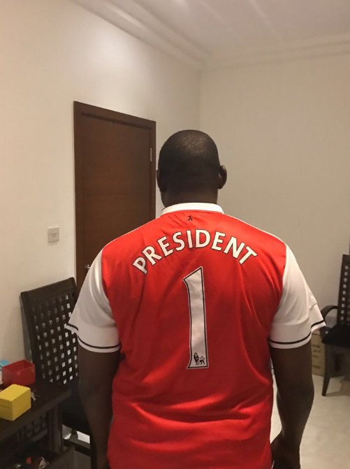 Le président élu de la Gambie Adama Barrow fan de l'équipe d'Arsenal
