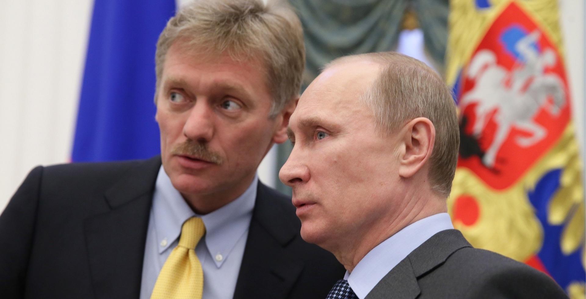 """""""Ces accusations commencent à nous fatiguer"""" (Dmitri Peskov)"""