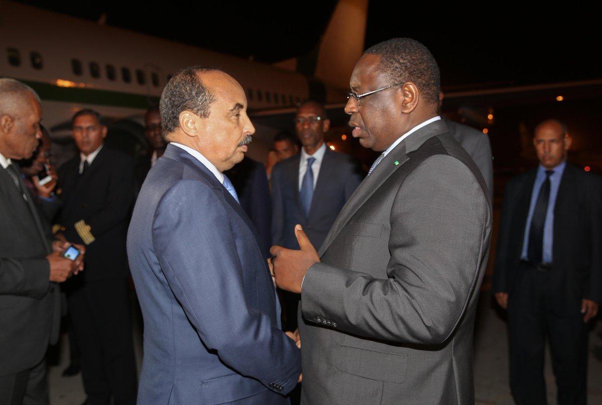 CRISE GAMBIENNE : Le Président mauritanien était à Dakar la nuit dernière pour s'entretenir de la situation gambienne avec le Président