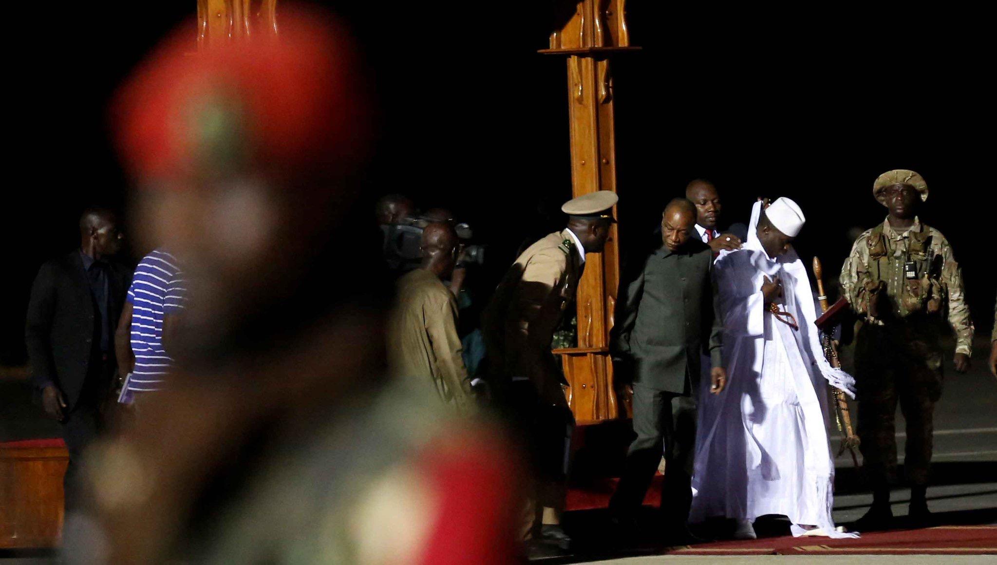 Après une escale à Conakry, Yaya Jammeh est arrivé à destination à Malabo (Guinée Equatoriale)