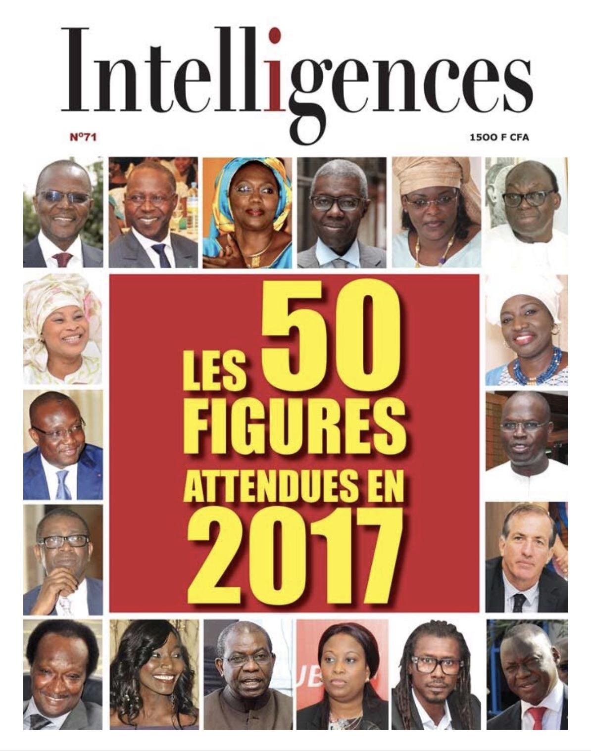 UNE DE INTELLIGENCES MAGAZINE : Un palmarès de 50 figures attendues en 2017