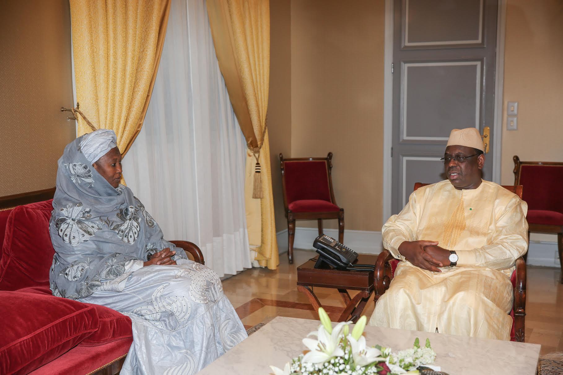 AUDIENCE AU PALAIS : Le président Macky Sall a reçu Mme Fatoumata Jallow Tambajang, Vice-présidente de la Gambie