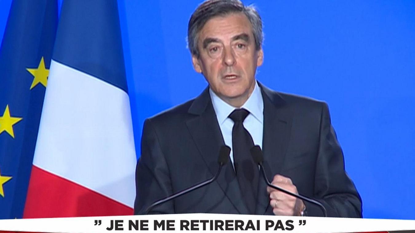 """""""Je ne me retirerai pas"""" : François Fillon demande aux Français de le """"suivre"""""""
