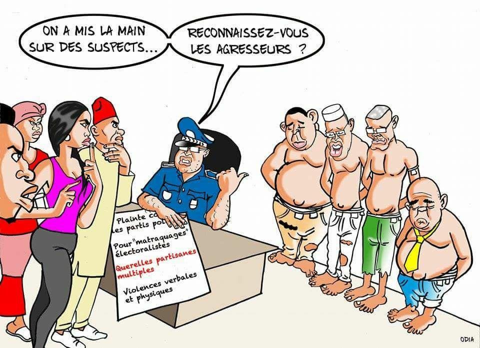 Affaire de suspects. Difficile de reconnaître ces agresseurs ! (La Tribune d'Odia).