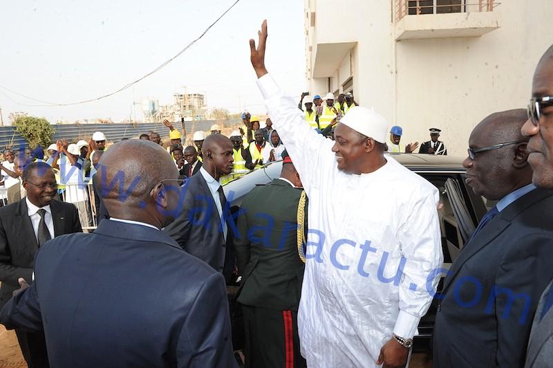 Les images de la visite du président Adama Barrow au chantier de Gétran à Diamniadio...