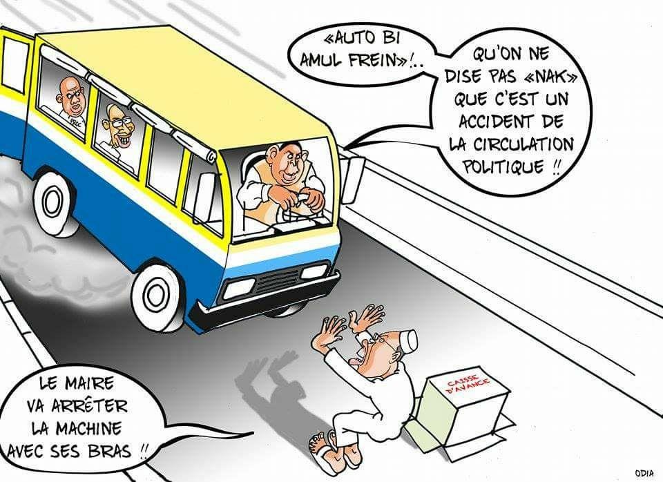 Car rapide sans freins (La Tribune d'Odia)