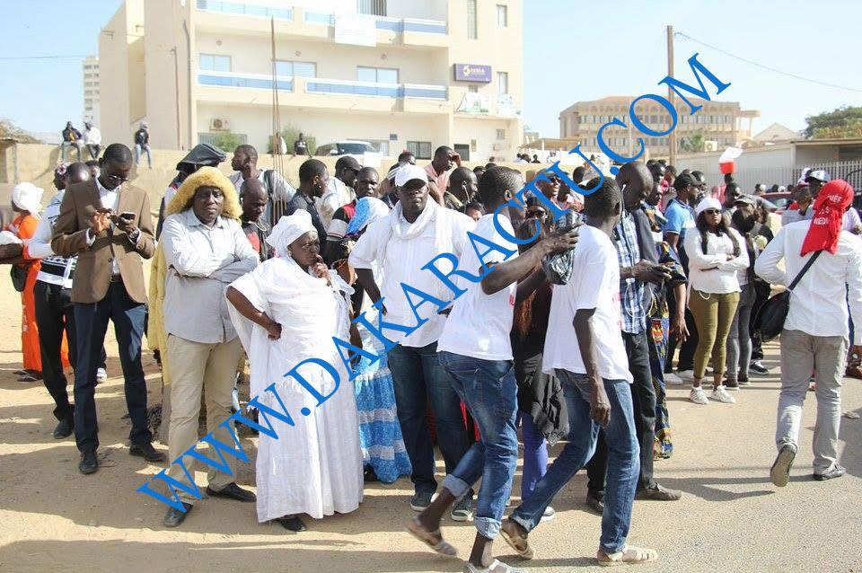 AUDITION DE KHALIFA SALL : Les images de l'ambiance et la forte mobilisation au palais de Justice de Dakar