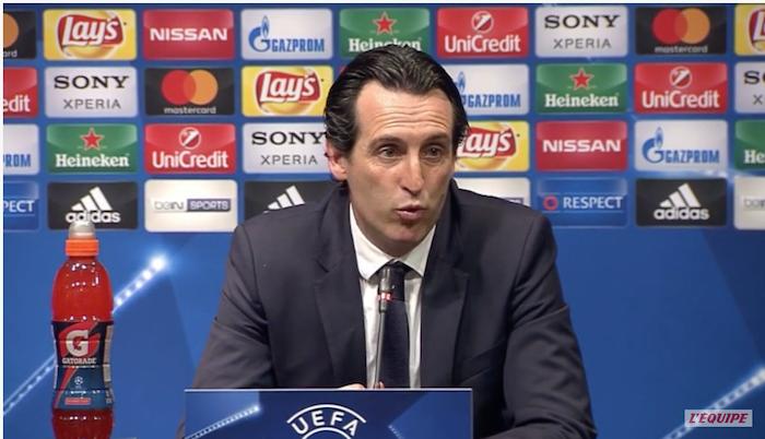 Emery Coach PSG : « En cinq minutes, nous avons tout perdu »
