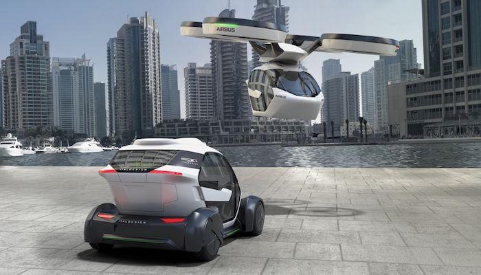 Airbus présente Pop-up, son concept de voiture volante