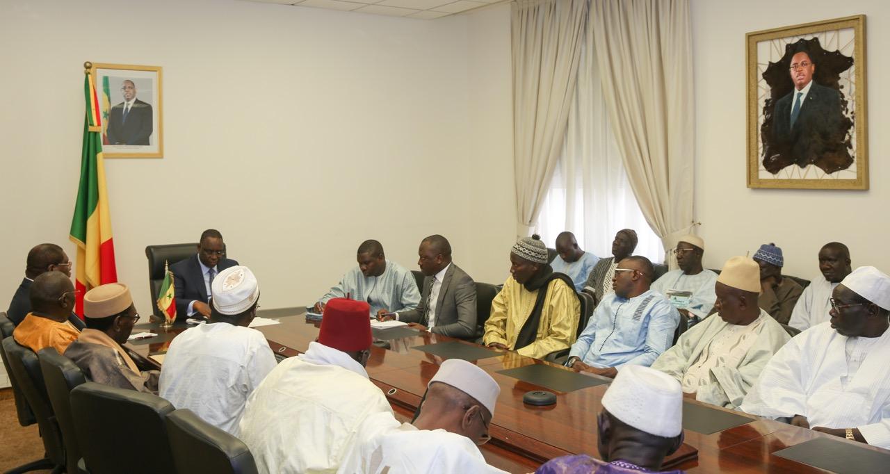 PALAIS DE LA RÉPUBLIQUE : Le Président Macky Sall a reçu les transporteurs de l'AFTU et de gros porteurs