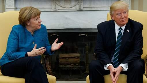 Une première rencontre délicate entre Trump et Merkel