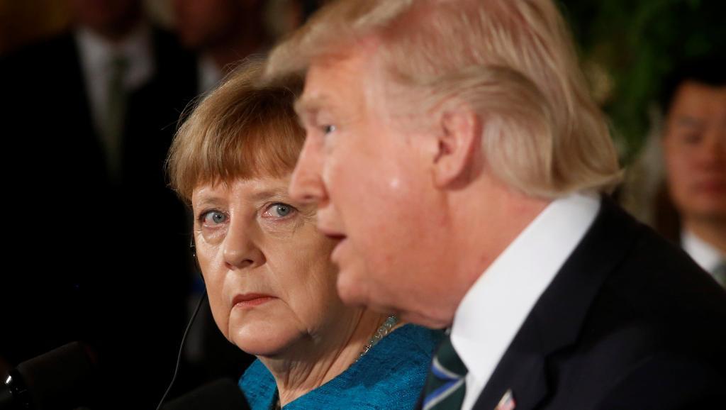 Donald Trump accuse Berlin d'être mauvais payeur et Londres d'espionnage