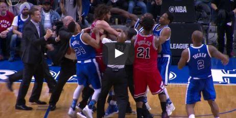 Un match de NBA vire au combat de rue
