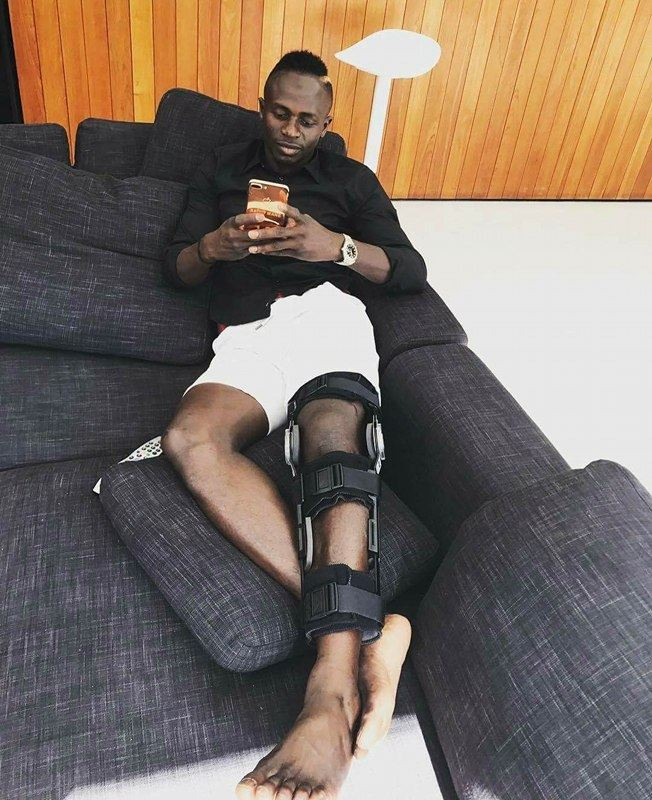 L'international sénégalais Sadio Mané après sa blessure (photo)
