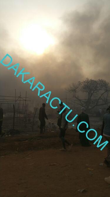 INCENDIE AU DAAKA DE MÉDINA GOUNASS : Plusieurs tentes réduites en cendres