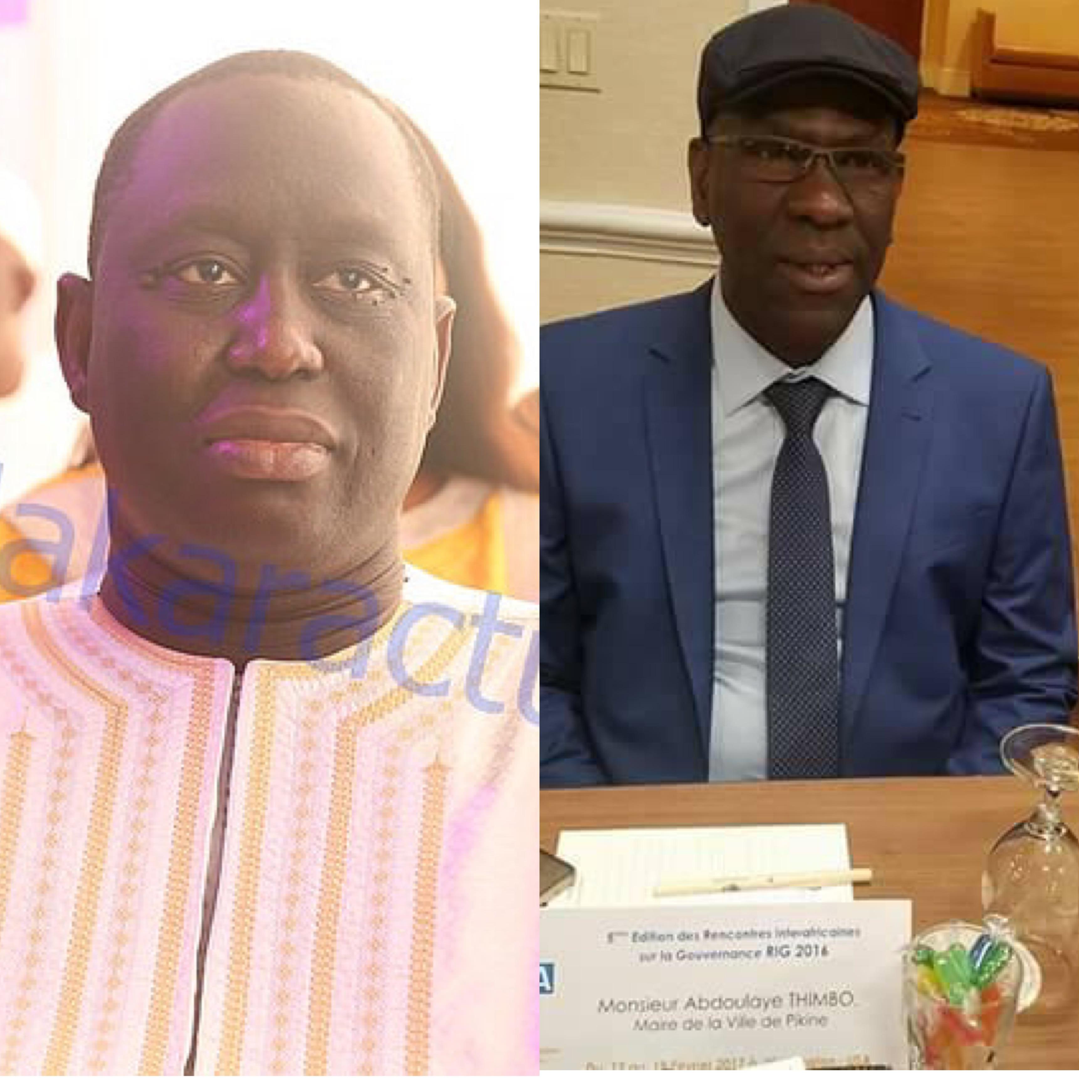 LÉGISLATIVES 2017 : Aliou Sall et Abdoulaye Timbo renoncent à leur investiture en tant que tête de liste de BBY des départements de Pikine et de Guédiawaye