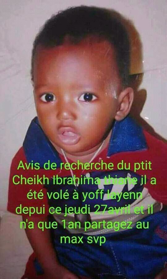 Disparu à Yoff, Cheikh Ibrahima Thiane retrouvé à Kahone.