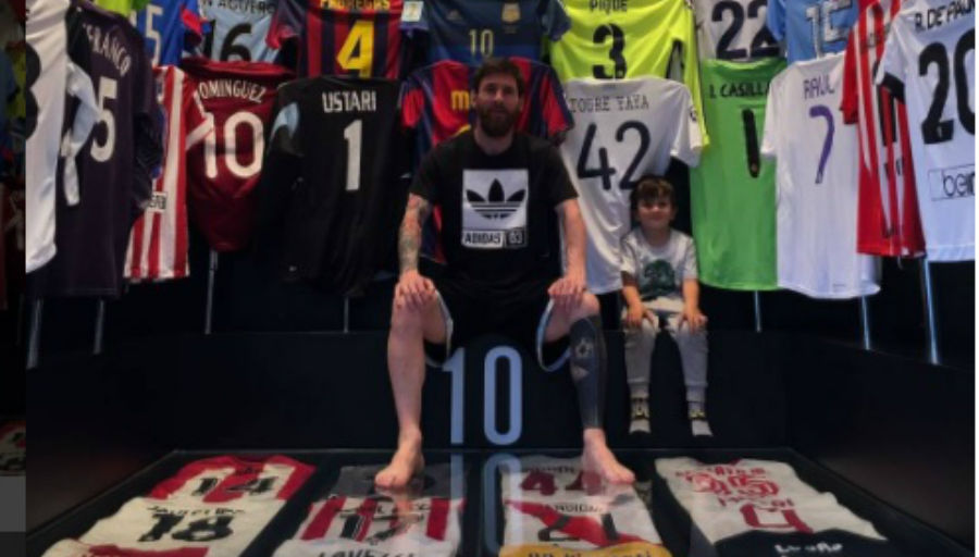 L'impressionnante collection de maillots de Messi