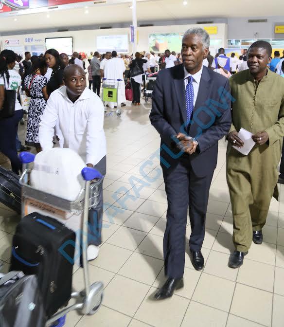 Photos : Arrivée de Deo Hakizimana à l'Aéroport Houphouët Boigny de Côte d'Ivoire