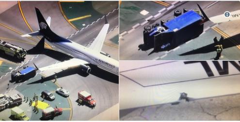 Collision entre un avion et un camion à l'aéroport de Los Angeles
