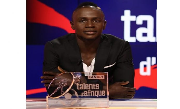 Sadio Mané, lauréat du trophée « talent d'or » de Canal+
