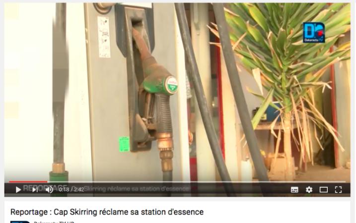 Après un reportage de Dakaractu, la station d'essence du Cap Skrirring trouve repreneur