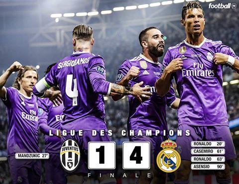 C'est terminé ! Le Real Madrid C.F. atomise la Juventus 4-1 et remporte la 12e Ligue des Champions de son histoire !