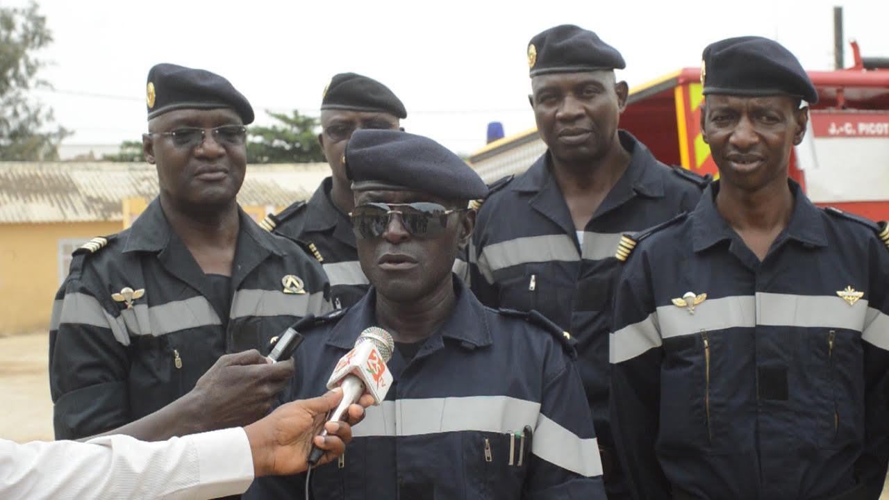 Prise de contact : Le Général de Brigade Victor Tine, Commandant du Groupement national des Sapeurs Pompiers, se rend dans l'axe nord