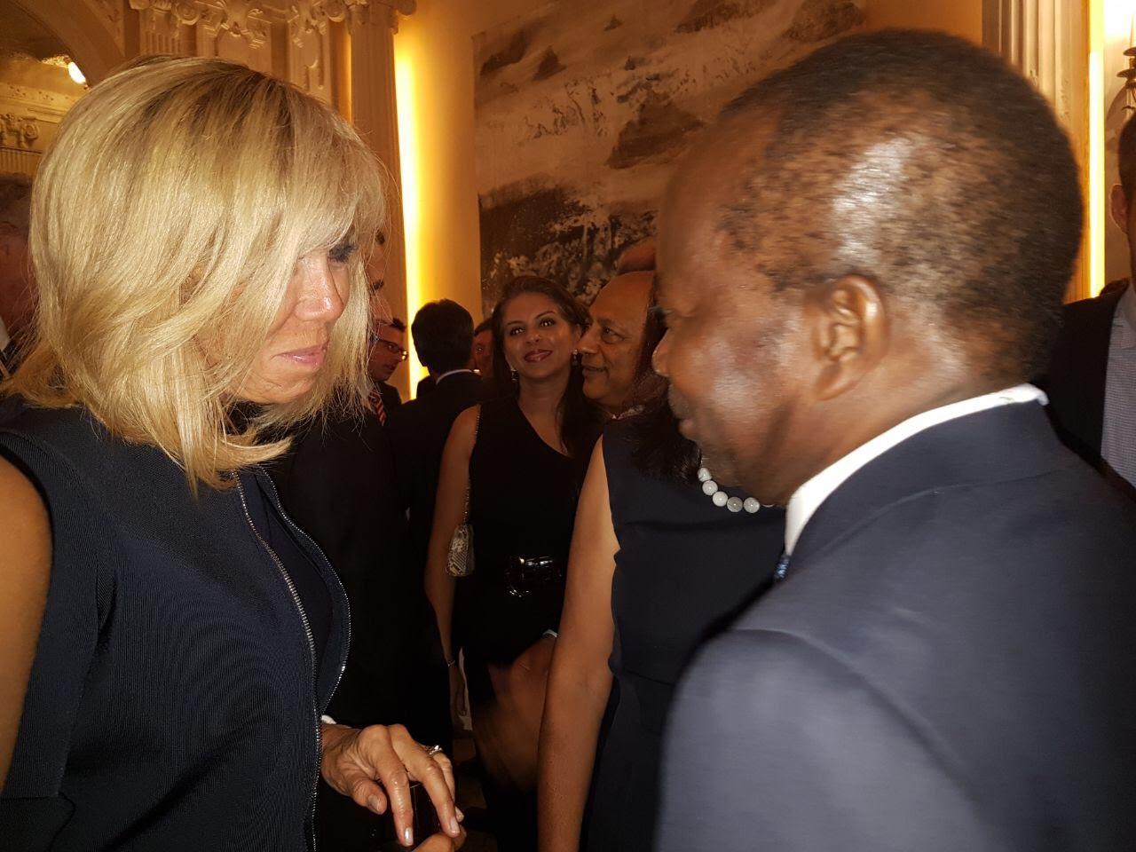 LAUSANNE (Suisse) : Rencontre entre le Président Français Emmanuel Macron et Mamadou Diagna Ndiaye