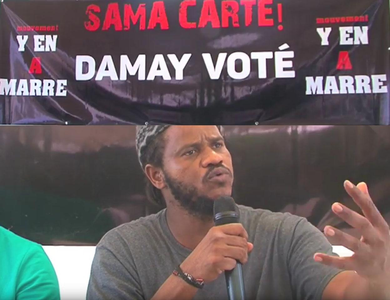 """Y'en a marre boude Me Wade et  lance """"Sama carte Damay voté"""""""