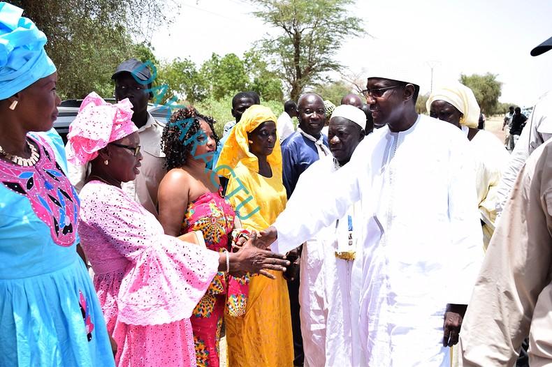 Images : Visite de proximité de Mamour Diallo à Gandé, Thiamène, Koki, Warack et Ndiagne