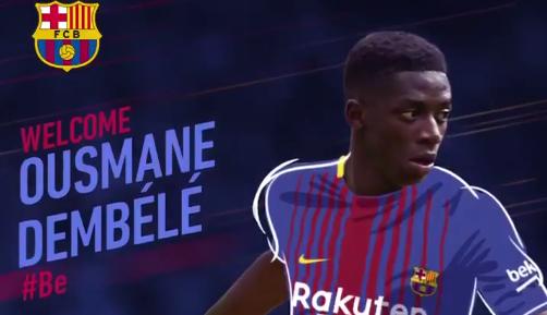 Ousmane Dembélé à Barcelone, c'est officiel